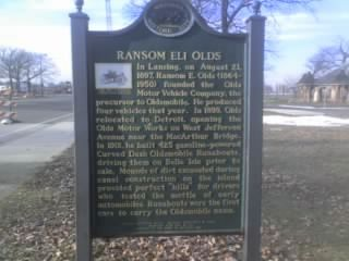 Ransom Eli Olds Marker image. Click for full size.