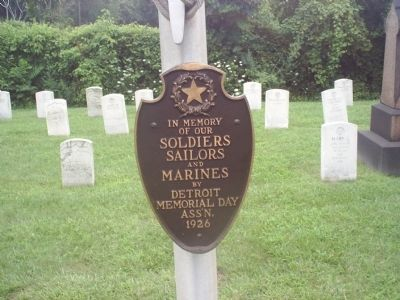 Soldiers, Sailors, and Marines Marker image. Click for full size.