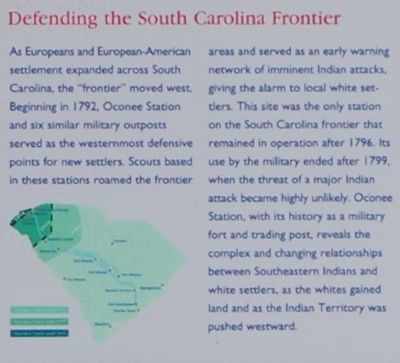 Oconee Station Marker - Defending the South Carolina Frontier image. Click for full size.