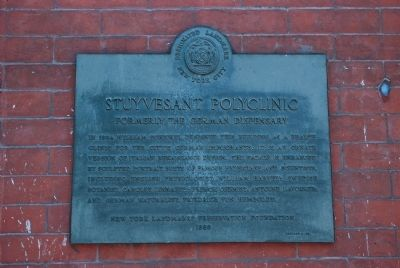 Stuyvesant Polyclinic Marker image. Click for full size.