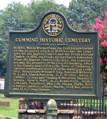 Cumming Historic Cemetery Marker image. Click for full size.