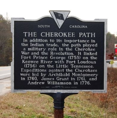 The Cherokee Path Marker - Reverse image. Click for full size.