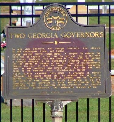 Two Georgia Governors Marker image. Click for full size.