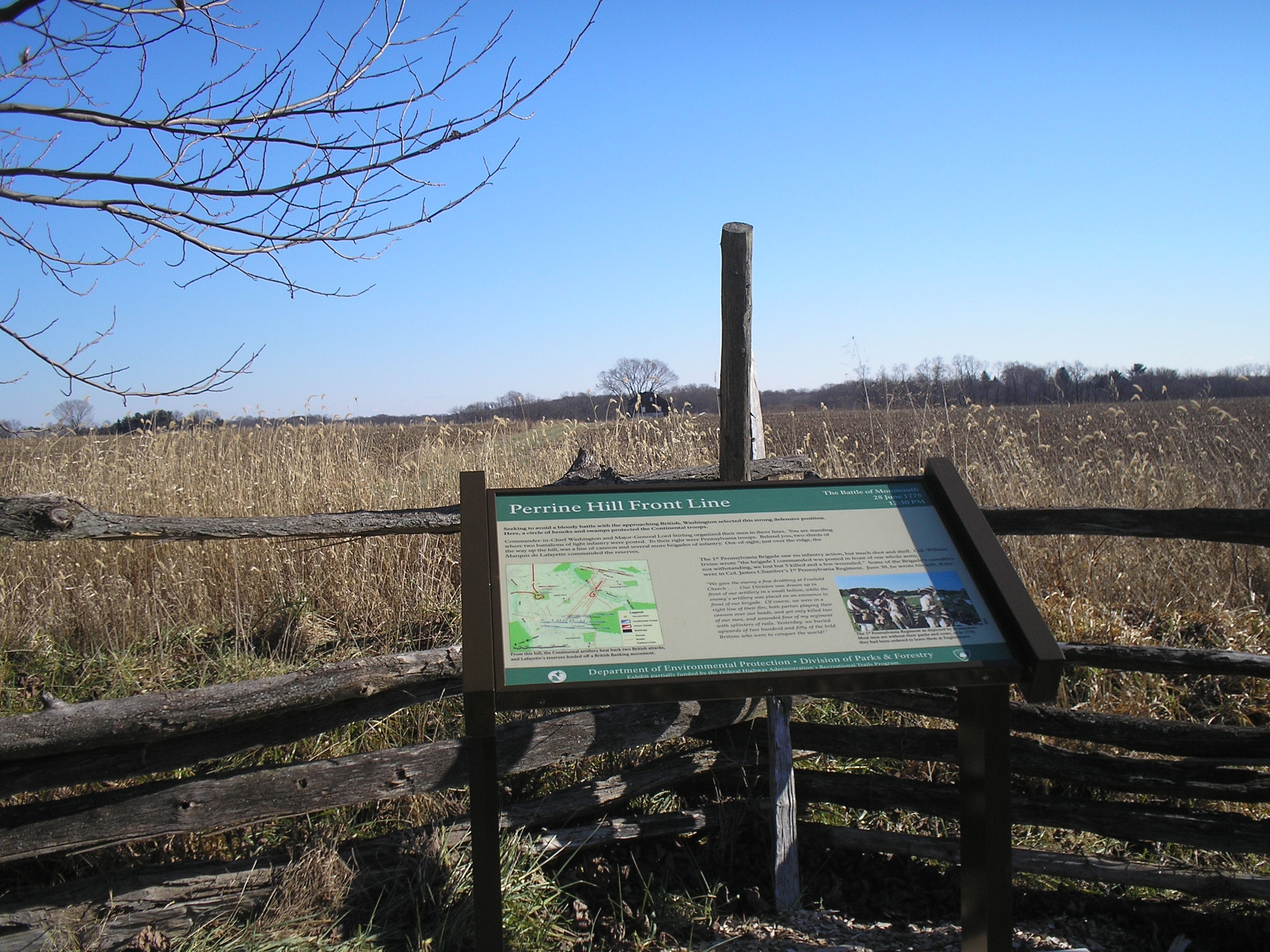 Battle of Monmouth Marker