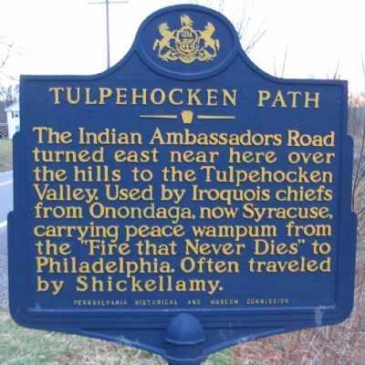 Tulpehocken Path Marker image. Click for full size.