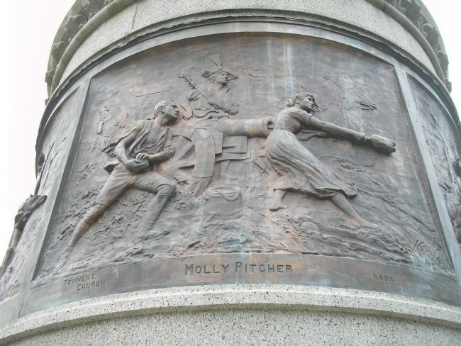 Molly Pitcher Plaque image. Click for full size.