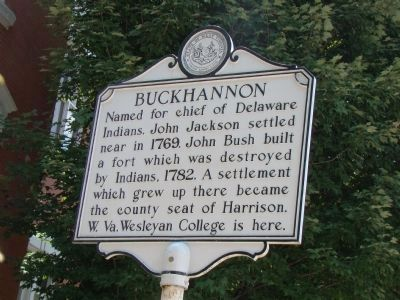 Buckhannon Face of Marker image. Click for full size.