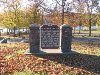 The Battle of St. Croix Falls Marker image. Click for full size.
