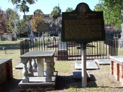 Major John Berrien (1759-1815) Marker, in Colonial park Cemetery, Savannah image. Click for full size.