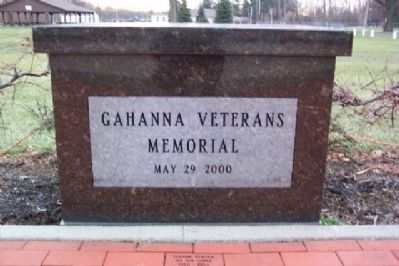Gahanna Veterans Memorial image. Click for full size.