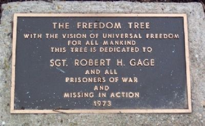 Robert H. Gage Freedom Tree Marker image. Click for full size.
