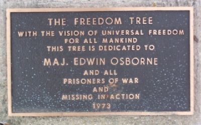 Edwin Osborne Freedom Tree Marker image. Click for full size.