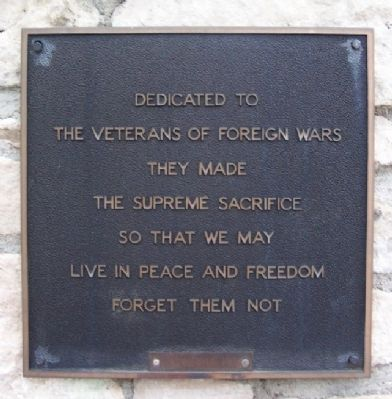 Veterans of Foreign Wars Memorial Marker image. Click for full size.