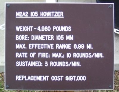 M2A2 105MM Howitzer Marker image. Click for full size.
