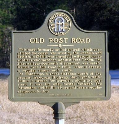 Old Post Road Marker image. Click for full size.