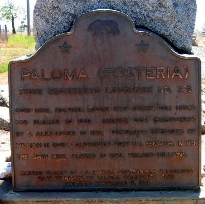 Paloma (Fosteria) Marker image. Click for full size.