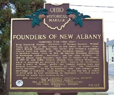 Founders of New Albany Marker (Side B) image. Click for full size.