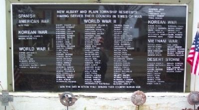 Spanish-American War, World War I, World War II, Korean War, Vietnam War, Desert Storm Panel image. Click for full size.