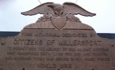 Millersport World War II Memorial Dedication image. Click for full size.