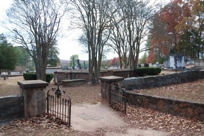 Entrance to Old Stone Church Cemetery image. Click for full size.