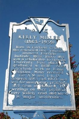 Fairfield Institute / Kelly Miller Marker image. Click for full size.