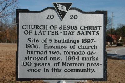 Church Of Jesus Christ Of Latter-Day Saints Marker image. Click for full size.