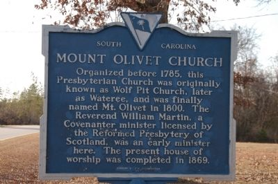 Mount Olivet Church Marker image. Click for full size.