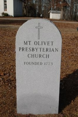 Mount Olivet Church Stone Marker image. Click for full size.