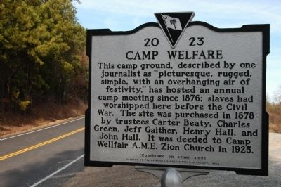 Camp Welfare Marker image. Click for full size.