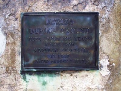 Old Jewish Burial Ground image. Click for full size.