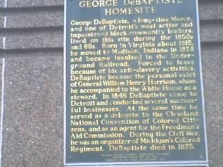George DeBaptiste Homesite Marker image. Click for full size.