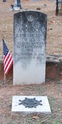 Col. Robert Anderson Tombstone image. Click for full size.