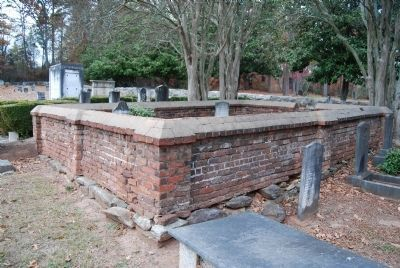 Wall Surrounding the Pickens Family Plot image. Click for full size.