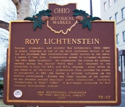 Roy Lichtenstein Marker (Side B) image. Click for full size.