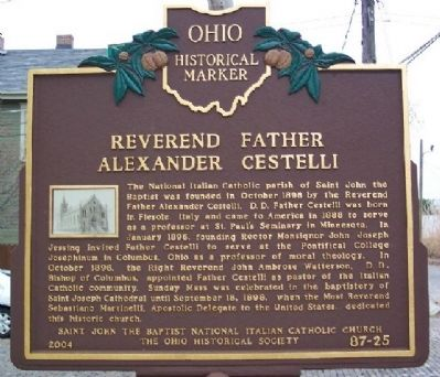 Reverend Father Alexander Cestelli Marker (Side A) image. Click for full size.