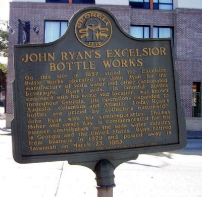 John Ryan's Excelsior Bottle Works Marker image. Click for full size.