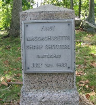 First Massachusetts Sharpshooters Position Marker image. Click for full size.