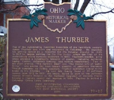 James Thurber Marker image. Click for full size.