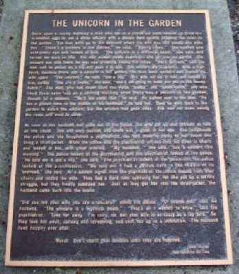 The Unicorn in the Garden Marker image. Click for full size.