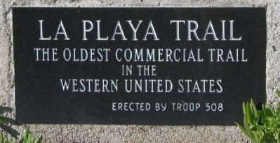 La Playa Trail Marker image. Click for full size.