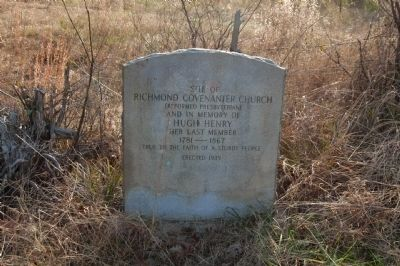 Site Of The Richmond Covenanter Church (Reformed Presbyterian) image. Click for full size.