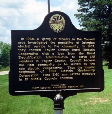 Taylor County Rural Electric Cooperative Marker image. Click for full size.