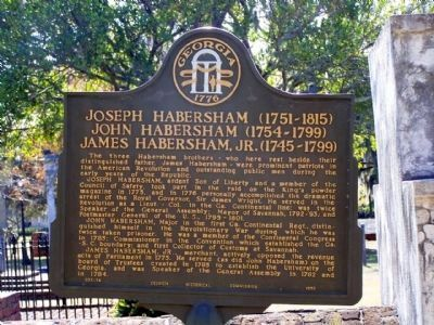 Joseph, John and James Habersham Marker image. Click for full size.