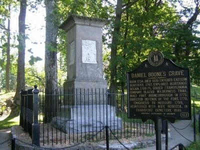 Daniel Boone Monument image. Click for full size.