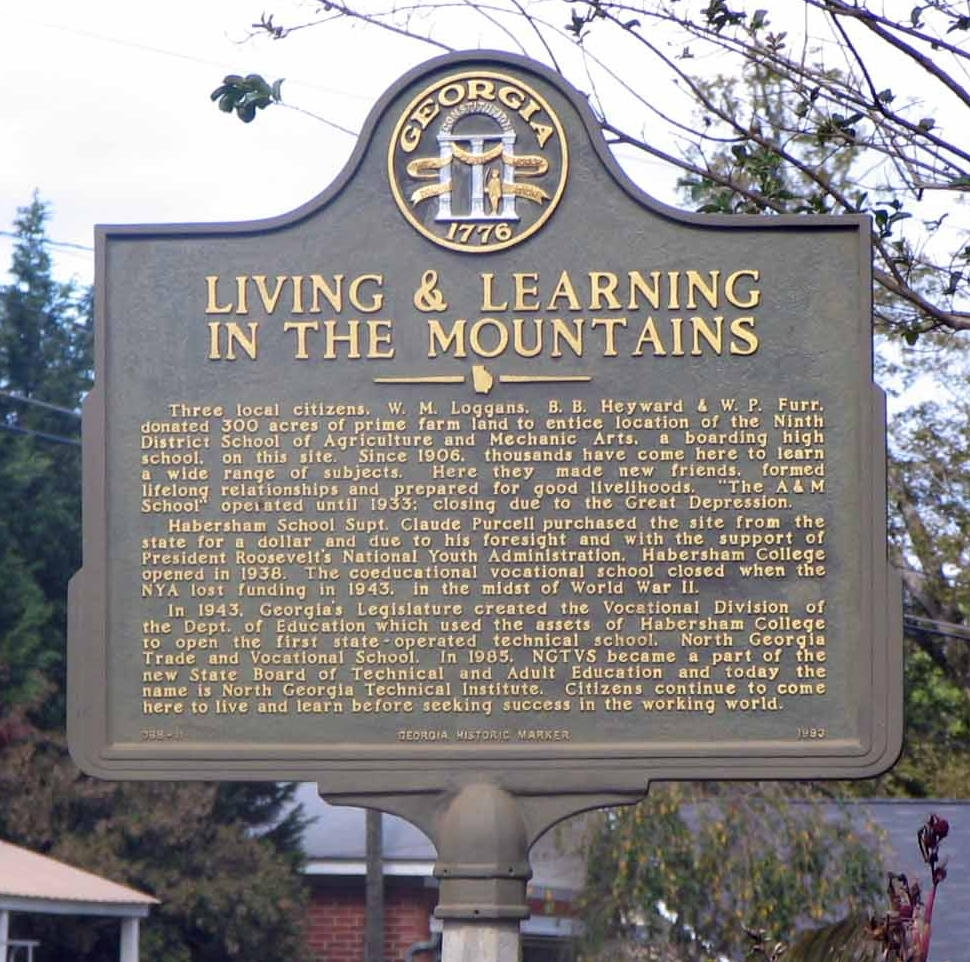 Living & Learning In The Mountains Marker