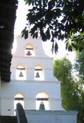 The Campanario and Mission Bells image. Click for full size.
