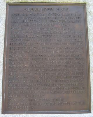 Close up of the Plaque on Front of Monument image. Click for full size.