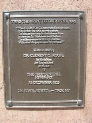 T'was the Night Before Christmas Marker - Troy, New York image. Click for full size.