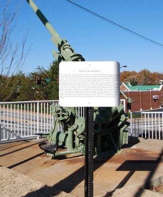 90 mm M-2 Anti-Aircraft Gun Marker image. Click for full size.