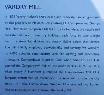 Old Mill Ruins Marker - Vardry Mill image. Click for full size.